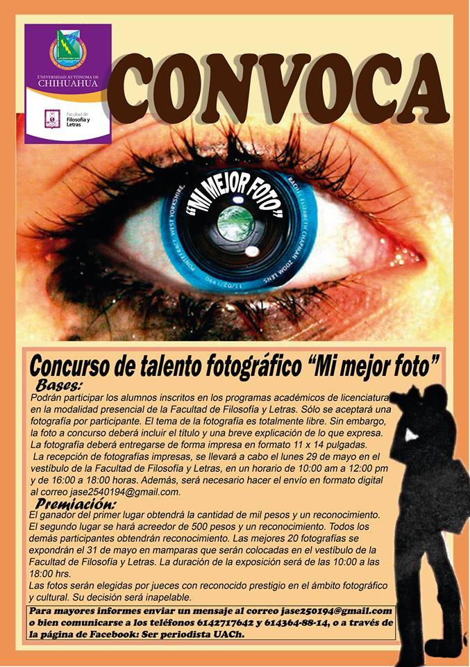 """Convocatoria concurso de talento fotográfico """"Mi mejor Foto"""""""